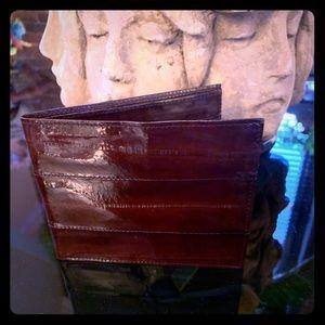 Men's Merlot Eel Skin Wallet